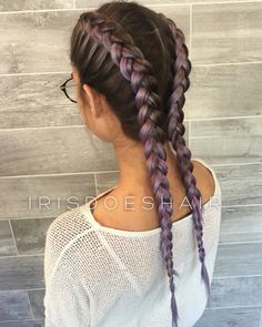 Rooty long lavender hair – Dutch braids Rooty long lavender hair – Dutch braids # dutch Braids with extensions Rooty long lavender hair – Dutch braids Dutch Hair, Dutch Braids, Double Dutch Braid, French Braids, White Girl Braids, Girls Braids, Fishtail Braid Hairstyles, Updo Hairstyle, Braided Updo