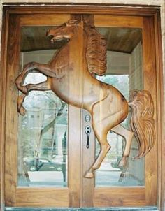 door... with a horse on it