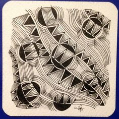 """""""Strircles"""" Pattern - Facebook group Square One: Purely Zentangle® 