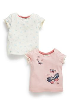 Buy Butterfly And Ditsy Print Tops Two Pack (3mths-6yrs) from the Next UK online shop