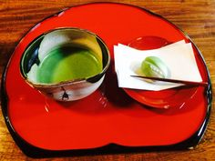 抹茶と生菓子 Matcha and Moist cake