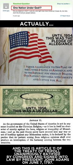 """In God We Trust"" is a recent invention, created by fear in the height of McCarthyism."
