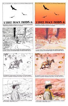 aapstra — Three Black Birds by Jean 'GIR' Giraud. Drawing Reference, Line Drawing, Comic Book Artists, Comic Books, Moebius Art, Rendering Art, Western Comics, Jean Giraud, Storyboard Artist