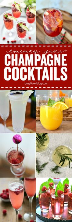 So many great Champagne Cocktails, perfect for New Years!