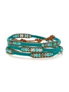 multi stone wrap bracelet.