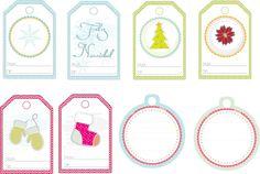Etquetas navideñas para imprimirse..gratis