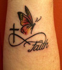... Tattoos on Pinterest | Infinity Tattoos Faith Wrist Tattoos and