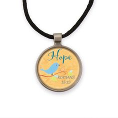 Hope and Peace - Reversible Charm Necklace - $3.99 + extra 25% off