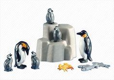 2 Emperor Penguins with Babies Item Number: 6259