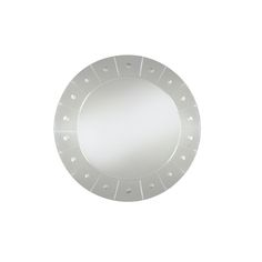New Engraved Round Wall Mirror