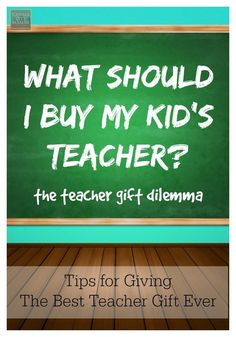 Tips for Giving the Best Teacher Gift Ever - Puzzled about what to get your kiddo