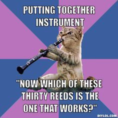 """I should be rotating my reeds so they last longer...... But this one sounds the best, so I'll just use it for the next 6 months"""