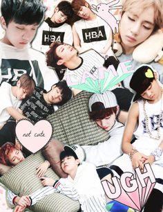 my sleeping babies ! (ʃƪ ˘ ³ ˘) #bts I don't care about j hope but aww