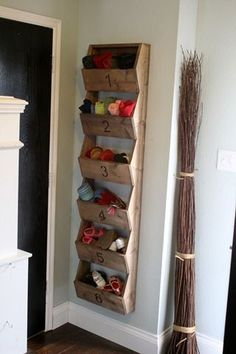Love this storage idea... Would be perfect for winter gear organization