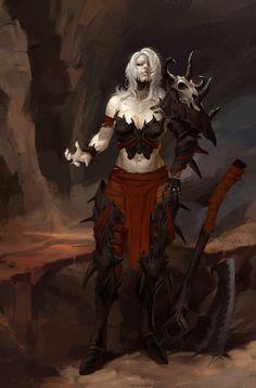 Warlock Girl, Bangku An on ArtStation at https://www.artstation.com/artwork/lKlvG