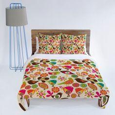 DENY Designs Valentina Ramos Little Birds Duvet Cover
