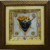 lord-krishna-decorative-marble-with-led-and-wooden-frame-analog-wall-clock-gold