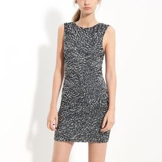 Alice + Olivia Black And Silver Sequin Dress