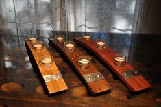 """Napa Valley Wine Barrel bougeoir avec anneaux en métal, long de 23""""."""