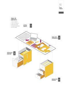 42 Sketches, Drawings and Diagrams of Desks and Architecture Workspaces,Submitted by Pimnara Thunyathada