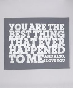 Take a look at this Gray 'Best Thing' Screen Print by IScreenYouScreen on #zulily today!