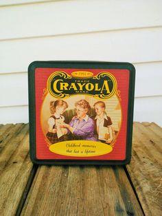 Nostalgic Vintage Collectible 1994 Crayola Tin by EclecticGals