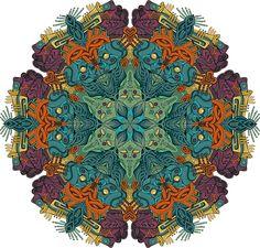 Mandala - Ilustração do brasileiro Emerson Dias;