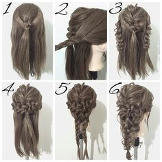 prom hair updo tutorial in 2019 причес Box Braids Hairstyles, Wedding Hairstyles, Mermaid Hairstyles, Updo Hairstyle, Trendy Hairstyles, Hairstyle Ideas, Prom Hair Updo, Braid Hair, Updo Tutorial
