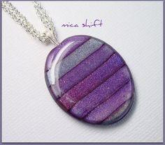 Purple Mica Shift Pendant