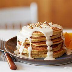 Pumpkin Pancakes with Peanut Butter Caramel Sauce from Smucker's®