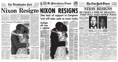4 portadas históricas de la renuncia de Richard Nixon