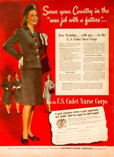 Cadet corp for nurses during WWII
