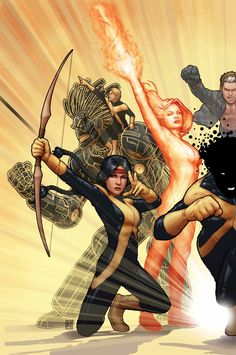 NEW MUTANTS #47 by John Tyler Christopher Moonstar, Warlock, Magma, X-Man and SUnspot. :3