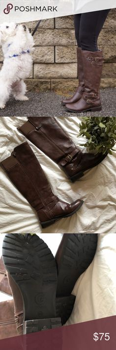 G by GUESS Ladies Brown riding boots 8 Good used condition G by Guess Shoes Combat & Moto Boots