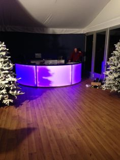 Our Half Round LED Bar set up and looking nice and Christmas-y at Van Hage! #Christmas #event #bar