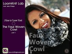 Loom Knitting: Faux Woven Cowl