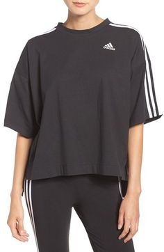 Free shipping and returns on adidas Oversized Crop Top at Nordstrom.com. Sporty stripes run down the loose, cropped sleeves of this easy-to-layer jersey tee.
