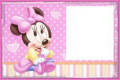 Minnie Rosa Invitaciones Imprimibles Imgenes y Fondos para Imprimir Gratis  Babys cutes