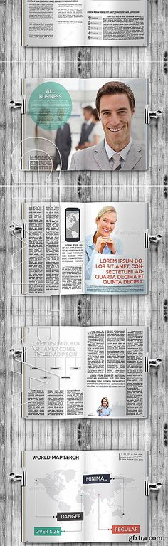 GraphicRiver - Business Magazine InDesign A4+Letter Template 11540750