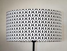 Abat-jour lampe de chevet noir et blanc rétro : Luminaires par lejardindemamere