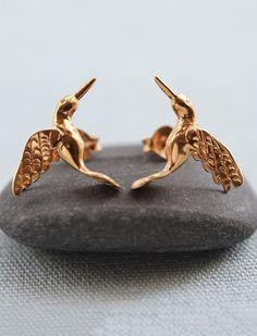 Hummingbird stud earrings