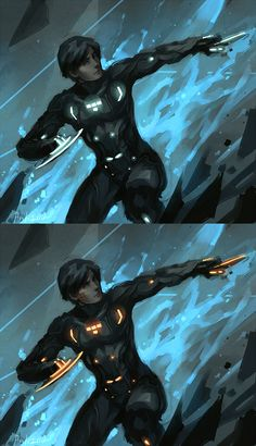 Tron Rinzler by ~ladyavali on deviantART Tron Art, Tron Uprising, Character Art, Character Design, Manga Anime, Tron Legacy, Superhero Design, Cosplay, Ghost Rider