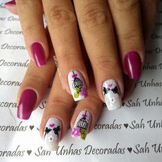 Flower Nail Designs, Nail Art Designs, Fancy Nails, My Nails, Autumn Nails, Nail Decorations, Flower Nails, Manicure And Pedicure, Hair Beauty