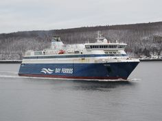 Enjoy a three-hour cruise across the Bay of Fundy between Saint John, New Brunswick and Digby, Nova Scotia with Bay Ferries. Ferry Boat, New Brunswick, Boat Plans, Water Crafts, Nova Scotia, Boats, Sailing, Cruise, Ships