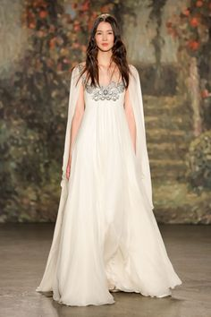 Jenny Packham. See all the best bridal gowns on the spring 2016 runways.