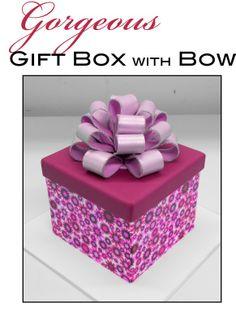 Gift box cake tutorial