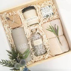 Custom birthday gift box from Loved and Found. Curated gift box for her. Bridesmaid gift