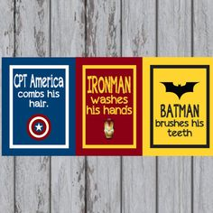I promised Emmett an avengers bathroom if he got a brother. So here goes nothing.
