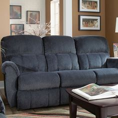 Trust us to bring a laid back attitude to stylish relaxing. The Briggs reclining sofa is the perfect combination of cool and comfortable. Generously scaled and cushioned with soft shirring on the back and footrests, and supportive chaise reclining end seats.
