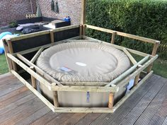Hot Tub Pergola, Hot Tub Garden, Hot Tub Backyard, Backyard Patio, Intex Whirlpool, Intex Hot Tub, Deco Spa, Hot Tub Surround, Stock Tank Pool